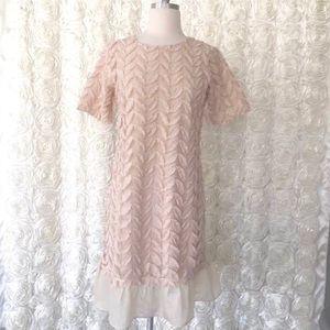New Anthropologie Weston Feathered Texture Dress S